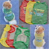 Small Pet Dog Apparel Vest Puppy Cat Coat Clothes T-shirt Summer Striped Costume