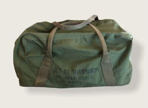 Vintage Military Canvas Duffel Bag sgt military duffel Rare