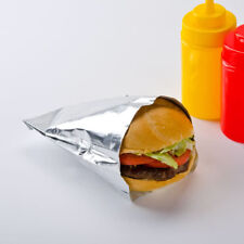 "Large Foil Hamburger/Sandwich Bag 6"" x 3/4"" x 6.5"" Carnival King 1000/Case"