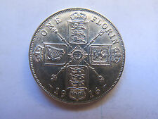 1916 GREAT BRITAIN SILVER FLORIN KING GEORGE V in FANTASTIC CONDITION