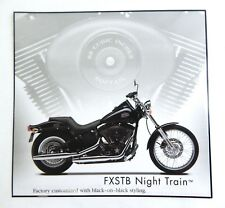 Harley Davidson FXSTB Night Train Motorcycle Laminated Print