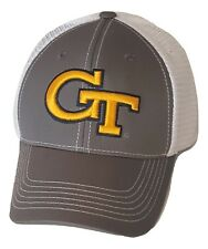 Georgia Tech Yellow Jackets Hat Gray Mesh Trucker Snapback Cap NCAA