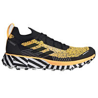adidas Terrex Two Parley Mens Trail Running Trainer Shoe Yellow/Black
