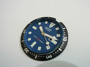 SEIKO REPLACEMENT BLUE DIAL /HANDS/ INSERT FOR SEIKO 4205 MEDIUM DIVER'S WATCH