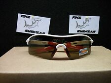 FINZ POLARIZED SPORTS GOLF FISHING SUNGLASSES WHITE-RED / AMBER LENS