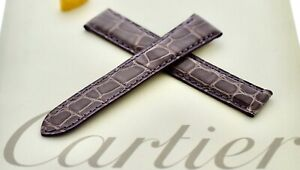 Cartier Strap Shiny Lilac Alligator16mm x 14mm For Deployment made in France,New