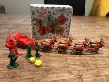 LOD Ents. Set 08--North Pole Set:Santa's Christmas Delivery--Santa, elves,sleigh