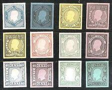 REGNO 1863 - 12 ESEMPLARI DI SAGGI GRAZIOLI - RARO INSIEME - VAL. CAT. 4200 €