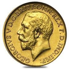 1911-1936 British Gold Half Sovereign George V Avg Circ