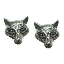 Silver Fox Head Cufflinks With Gift Pouch Wild Animal Hunting Hounds Country New