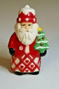 Pie Bird Cute Santa Holding Christmas Tree Piebird USA Made