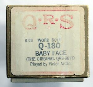 """VICTOR ARDEN """"Baby Face"""" QRS Q-180 [PIANO / PIANOLA ROLL]"""