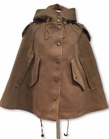 BURBERRY BRIT OLIVE/KHAKI CAPE JACKET, 2 US 4 UK, $1300