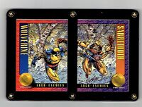 X-MEN SERIES 2 WOLVERINE AND SABRETOOTH BRANDON PETERSON SIGNED CARDS