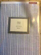 M&S, Bedding Set, Texture Striped, Super King Size Bedset, Blue Mix, 100% Cotton
