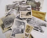 Vintage LOT 25 + Photographs of Vintage Cars Automobiles 1940s 50s and Older