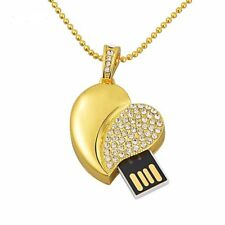 Clé USB flash collier pendentif coeur Swarovski®Elements 8 GB  top qualité