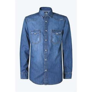 Chemise Denim Moto En 100% Coton Promojeans Blue CAMD17 - Taille M