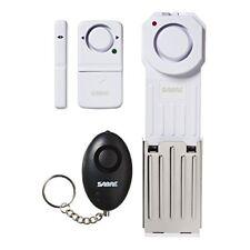 Dorm Apartment Traveler Kit includes 3 Standalone Alarms - Door Window Keychain