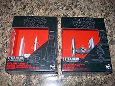 2 SEALED Star Wars Titanium Series KYLO REN'S COMMAND SHUTTLE 03 TIE FIGHTER 04