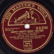 RARE GLENN MILLER 78  HUMPTY DUMPTY HEART/ NO LAUGHING MATTER  HMV BD 5749 EX/E-
