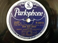 """78 rpm 10"""" HARRY JAMES back beat boggie / dukes mixtur"""