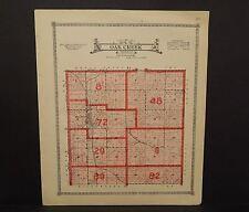 Nebraska Butter County Map Oak Creek Township  1918   P5#83