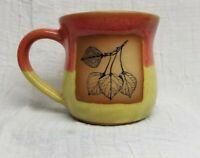 Always AZVL Pottery Coffee Tea Mug Vibrant Colors Orange Green