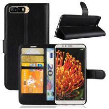 HPO Handy Tasche f Huawei Y6 2018 Klapp Flip Cover Case Schutz Buch Hülle Etui