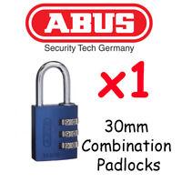ABUS Padlock 145//30 GOLD  Aluminium 30mm Combination Resettable Code Padlock New