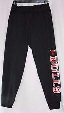 NEW Boys Girls Kids Youth MAJESTIC Chicago BULLS Black Red Logo NBA Sweat Pants