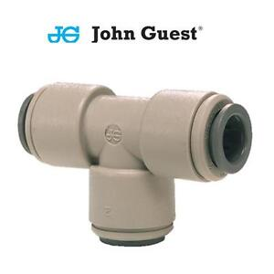 Genuine John Guest Tee Connector Imperial Coupling Air Water 1/4 5/16 3/8 1/2