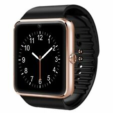 Rose Gold Bluetooth Smart Watch with Camera Text Call Mic for iPhone 6s Plus