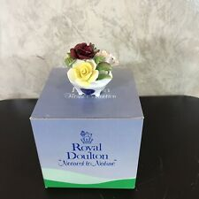 """Royal Doulton Flowers Floral Cluster Box Hand Painted Bone China England 2.5""""H"""