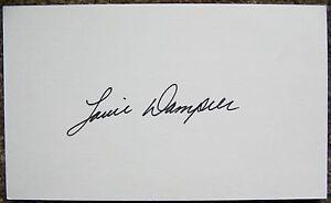 Signed LOUIE DAMPIER Index Autograph ABA Kentucky Colonels / San Antonio Spurs