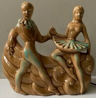 Nice Vintage 50s 60s Ballet Dancers Ceramic TV Lamp Mid Century Modern Kitsch