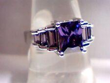 Stunningly Designed Purple Amethyst Dazzler 18Kt. White G.F. Lady's Sz 9