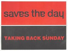 "Taking Back Sunday/Saves the Day ""Tour"" Sticker Brand New Jimmy Eat World"