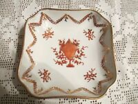 Isco  -  Vintage Hand-painted Floral Pattern Dish w/Ornamental Urn -  Japanese?