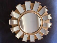 MID CENTURY MODERN ATOMIC MIRROR 20th century KALEIDOSCOPE EFFECT GOLD
