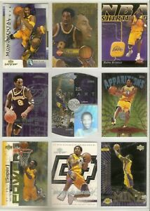 GREATEST KOBE BRYANT LOT OF 100 RARE INSERTS/ROOKIE/DIE CUTS/CARDS MASSIVE BV$