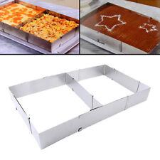 Top Neu Backrahmen Kuchenform eckig 5 cm Hoch Torten Edelstahl Verstellbar