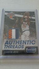 Derrick Rose #02/10 RARE PATCH 2016-17 PRIME Authentic Threads NEW YORK KNICKS