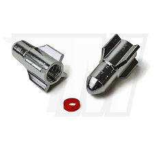 2x Tapón De La Válvula metal para Neumáticos coche, Bicicleta Cohete EN PLATA