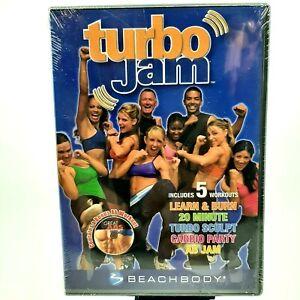 Turbo Jam 5 Rockin Workouts DVD Beachbody Chalene Johnson 2 Disc Set Abs Cardio
