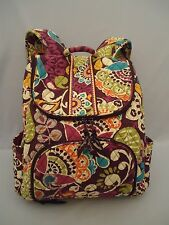 Vera Bradley Double Zip Backpack Plum Crazy RETIRED Pattern Purple Floral
