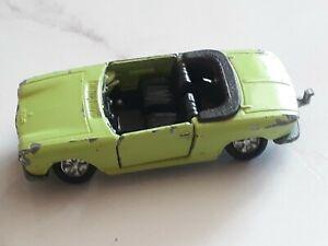 majorette voiture miniature Peugeot 204 C cabriolet 230 vert citron rail route
