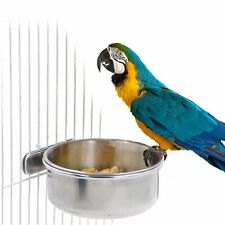 Clamp-on Hamster Hanging Cage Cup Water Drinker Parrot Feeding Bowl Bird Feeder
