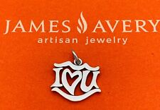 RETIRED James Avery I Love You Charm Sterling Silver VGUC Fast Ship