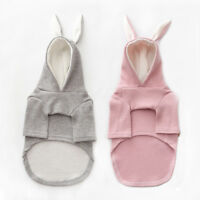 Rabbit Costume Small Dog Clothes Pet Cat Hoodie French Bulldog Coat Sweater Warm